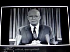 Rare video 1961 speech President & WWII General Dwight D Eisenhower warns us of the New World Order aka Military Industrial Complex. Famous Speeches, Rare Videos, Jfk, Constitution, Presidents, Military, The Incredibles