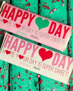 FREE PRINTABLE Valentine's Day Candy bar Wrappers
