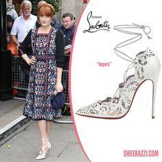 Florence Welch in Christian Louboutin Impera White Leather Pumps - ShoeRazzi
