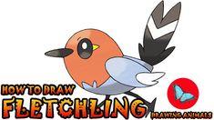 how to draw fletching pokemon Pokemon Ash Greninja, Pokemon Kalos, Draw Pokemon, Pokemon Charmander, Pokemon Sun, Pikachu, Drawing Animals, Animal Drawings, Drawing Tutorials