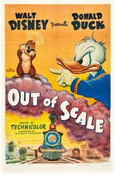 Disney movie short cartoon poster Theatrical poster of Donald Duck in Out of Scale.