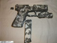 Hydro-dipped firearms, video game controllers, scopes, motorcycle fenders, helmets, etc.