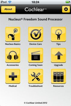 Cochlear™ support in the palm of your hands – wherever you are and whenever you need it. Get the help you need with your Cochlear Nucleus® 5 or Nucleus® Freedom™ Sound Processor.