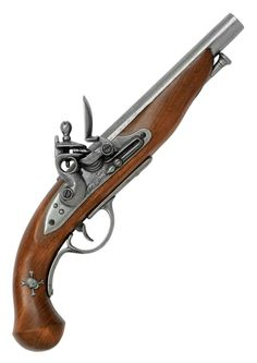Pirate Pistol - France 18th Century Flintlock Pistol Replica available from www.BlackSails.co.uk