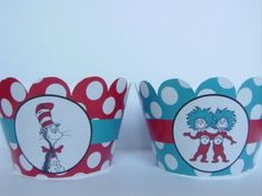 free printable dr suess cupcake wrappers | Dr Seuss Cupcake Wrappers Cupcake Liners Party Supplies Decorations