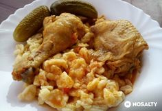 Paprikás csirke nokedlivel Miss Sweetlytől Risotto, Food And Drink, Rice, Chicken, Meat, Ethnic Recipes, Red Peppers, Cubs, Kai