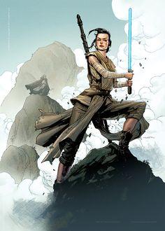Star Wars: Rey - Created by Felipe Watanabe Rey Star Wars, Star Wars Fan Art, Star Wars Jedi, Star Wars Characters, Star Wars Episodes, Star Wars Brasil, Arte Nerd, Star Wars Images, Star War 3