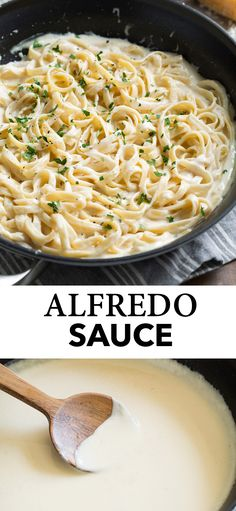 Best Alfredo Sauce recipe Made with basic ingredients like rich cream butter and milk an abundance of flavorful real parmesan Theres also a hint of garlic to bump of the. Pasta Alfredo Receta, Pate Alfredo, Salsa Alfredo, Best Alfredo Sauce Recipe, Fettucini Alfredo Sauce Recipe, Noodle Sauce Recipe, Chicken Alfredo Recipe With Prego Sauce, Homemade Alfredo Sauce With Milk Recipe, Gastronomia