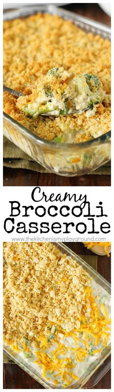 Creamy Broccoli Casserole is a family-favorite, indeed. With its cheesy broccoli goodness and buttered cracker crumb topping, what's not to love? It's a perfect side for the holidays or any day! Thanksgiving Recipes, Holiday Recipes, Great Recipes, Dinner Recipes, Favorite Recipes, Thanksgiving 2017, Thanksgiving Sides, Yummy Recipes, Casserole Dishes