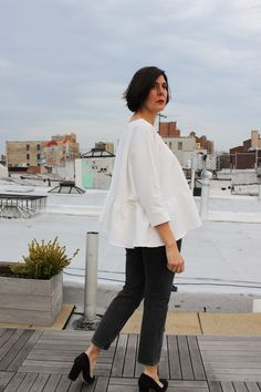Noble & Daughter: a self-drafted Rachel Comey inspired top
