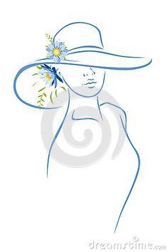 silhueta de mulheres com chapeu - Pesquisa Google