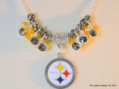 NFL Pittsburgh Steelers Pendant Necklace by SDJewelryDesign16, $23.00