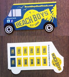 Unique Creative Custom Shape Business Card Food Truck
