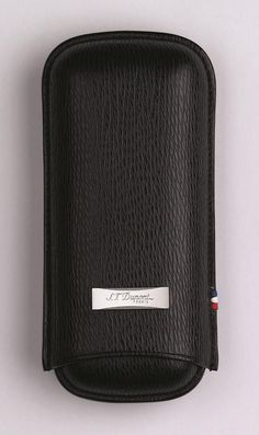 Cigar Case Black Leather St. DuPont Paris DuPont Cigar Case Leather Protective Dupont Case. Visit www.GentlemansEdge.com for a full line of men's accessories: Smoking, Carbon Fiber, Drinking, Dress, Wallets, Money Clips, and much more.