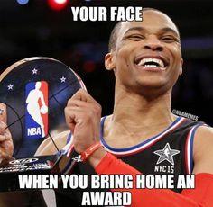 "Russell Westbrook: ""MAMA, I Made It.""  #AllStarMVP #Thunder - http://nbafunnymeme.com/nba-memes/russell-westbrook-mama-i-made-it-allstarmvp-thunder"