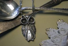 Spoon Necklace: Owl by Silver Spoon Jewelry by silverspoonj