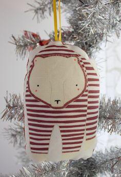 Pajama Bear Christmas Ornament