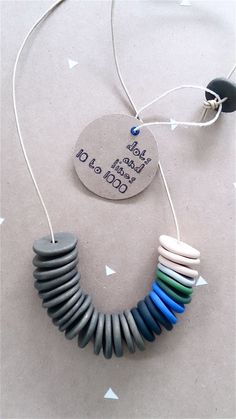 Oh how fun! Dots and Lines 10 to 1000 and their super cool polymer necklaces. #handmade #etsy #crafts #summer #fashion