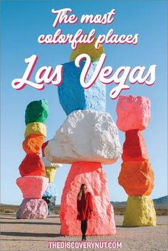 Las Vegas is one of the best places to visit in the United States. Although it's known for entertainment and gambling, there are many other things to in Las Vegas. The Sin City is extremely photogenic and you don't have to look hard to find colorful photo spots in Las Vegas. #lasvegas #vegas #vegasphotospots #thingstodovegas #sevenmagicmountains #vegasinstagram Usa Travel Guide, Travel Usa, Travel Guides, Travel Tips, Canada Travel, Travel Hacks, Travel Destinations, Things To Do Vegas, Seven Magic Mountains