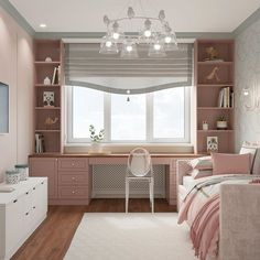 Pic 75 stunning ideas for girls bedroom that you must have page 17 Room Design Bedroom, Girl Bedroom Designs, Ikea Bedroom, Room Ideas Bedroom, Home Room Design, Small Room Bedroom, Home Office Design, Home Decor Bedroom, Bedroom Girls