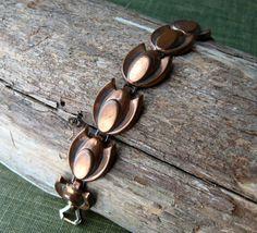 Copper Bracelet Renoir Jewelry 50s Link Bracelet Mid Century Jewelry by ultravioletvintage on Etsy  #Renoircopper #copperjewelry #copperbracelet #Renoirjewelry #mcm