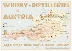 Map with all Whisky Distilleries in Austria Medium Size: 42 x 60 cm Tasting Map Size: 24 x 34 cm www.alba-collection.com