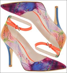 ooohhh pretty! watercolor print shoes