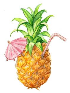 Pineapple, Commission by Alicia Severson Illustration and Design