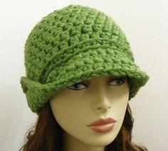 gorro verde de tricô