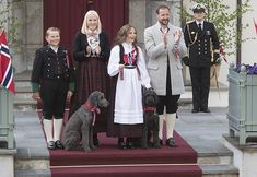 Norwegian Royal Family greeted the traditional children's parade
