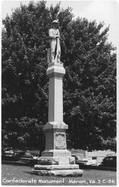 This early 1950s monument to Confederate Veterans is located on the Smyth County, Virginia Court House lawn.