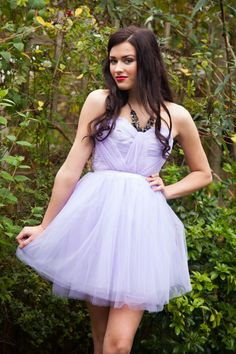 Romantic Lilac, Pastel Purple hand pleated, sweet heart tulle short prom dress - Wedding, Evening  - FREE Shipping on Etsy, $240.34