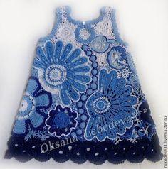 Одежда для девочек, ручной работы. Платье  для девочки Гжельская Роза Костюм…