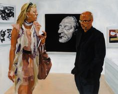 Eric Fischl - Art Fair paintings - at Victoria Miro Gallery II