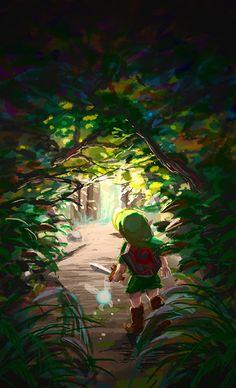 The Legend of Zelda: Ocarina of Time, Young Link and Navi http://fr.pinterest.com/zeldanet/zelda-fans-arts/
