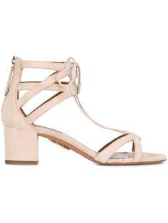 ff7a8a39589 AQUAZZURA Ankle Tie Sandals.  aquazzura  shoes  sandals Mid Heel Sandals