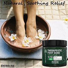 Amazon.com : Therapeutic Foot Soak - Epsom, Dead Sea Salt, MSM & Tea Tree Oil. Fight Toenail Fungus, Relieve Aches & Pains, Sore Feet & Muscles, Arthritis & Itchy Feet. Natural & Organic Bath Salts - 16oz : Beauty