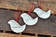 Christmas Tree Ornaments or Gift Tags