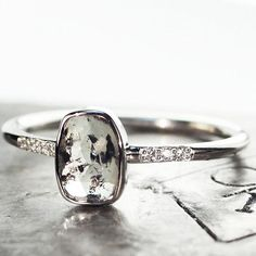 Remembering our .84 carat salt & pepper diamond ring. It sold, but the good news is we have more rings on the way. Stay tuned! #jewelry #chincharmaloney