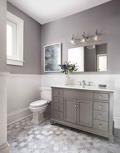 Bathroom decor for your master bathroom remodel. Discover bathroom organization, bathroom decor a few ideas, master bathroom tile suggestions, master bathroom paint colors, and much more. Best Bathroom Paint Colors, Ideas Baños, Decor Ideas, Decorating Ideas, Interior Decorating, Chic Bathrooms, Master Bathrooms, Small Bathrooms, Master Baths