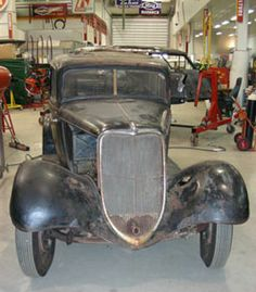 The museum's restoration professionals are working on a complete body-off-frame restoration of this 1933 Ford. This car will then be added to the fleet that, in summer, offers visitors a tour of the museum grounds in chauffeur-driven vintage vehicles. Vintage Cars, Antique Cars, Restoration Shop, Ford, Museum, Vehicles, Frame, Summer, Shopping