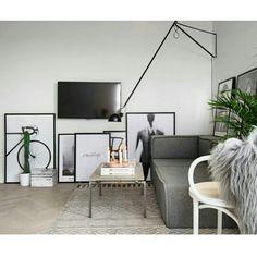 ▪ Living c/ linda composição de quadros ▪ be inspired ▪ hhinspiration ▪ interior design inspiration ▪
