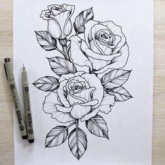 63b98a9bbb5b96468086a8d3eabecc46--rose-sketch-tattoo-roses-sketch.jpg (604×604)