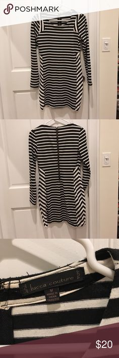 """Stripes BodyCon Dress BodyCon stripes long sleeve dress from Urban Outfitters. Great for a night out or with leggings. Cotton/poly blend. May fit some like a mini dress—I'm 5""""2 and it's mid thigh on me. Lucca Couture Dresses Long Sleeve"""