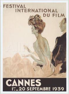 Festival International du Film, Cannes, 1939 Giclee Print by Jean-Gabriel Domergue at AllPosters.com