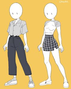 Fashion Design Drawings, Fashion Sketches, Anime Outfits, Cute Outfits, Casual Outfits, Diy Outfits, Cartoon Outfits, Summer Outfits, Kleidung Design
