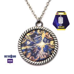 Doctor Who Van Gogh Tardis Large Size Pendant Necklace Licensed