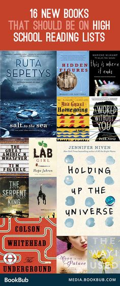 16 recent books for teens to read that aren't on high school reading lists, but should be. Perfect for girls and boys, these stories include a mix of life changing nonfiction and popular fiction.