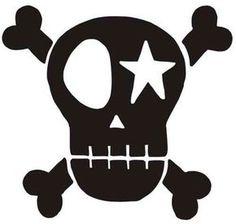 Skull, schwarz, Velours zum Aufbügeln