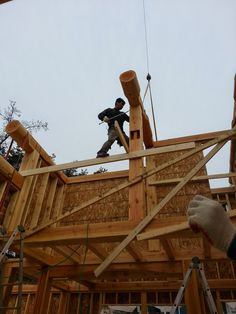 Jeff and Korea Log house: Log builder, another name for freedom.